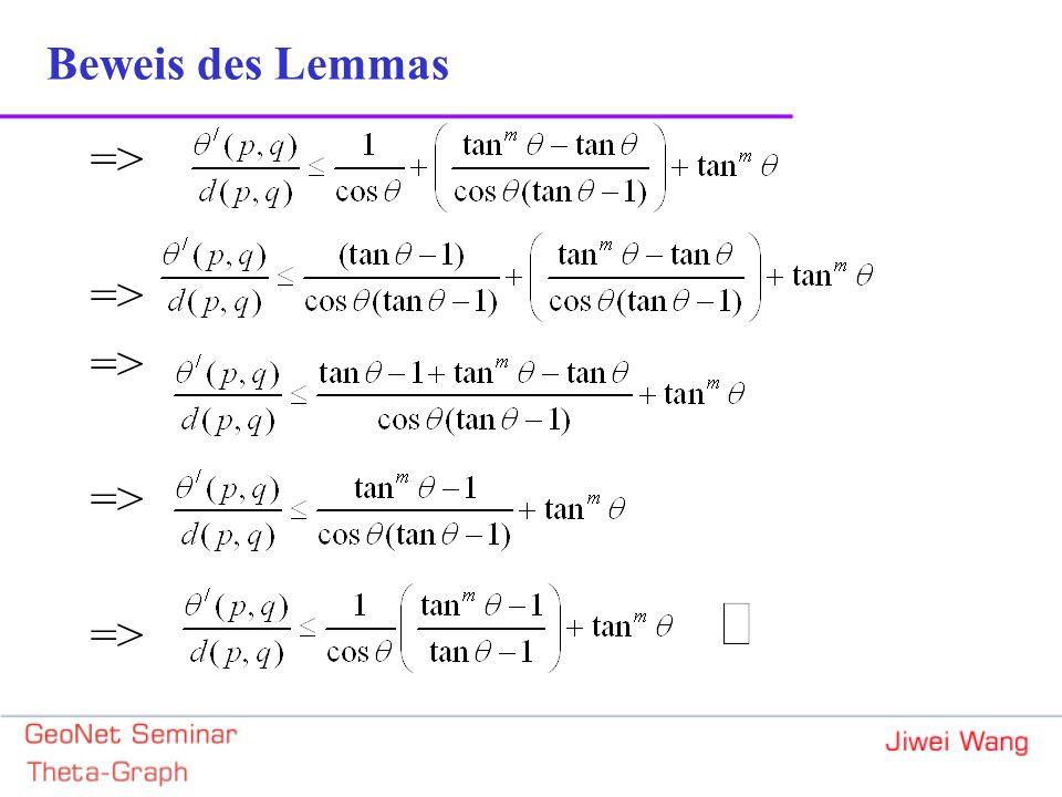 => Beweis des Lemmas
