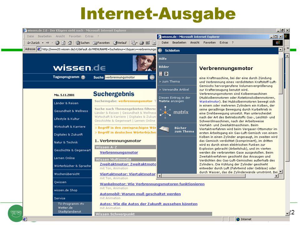 Chart 22 © E.F. Heinold, Heinold, Spiller & Partner Unternehmensberatung GmbH 2002 contentmanager.days 2002, 28.20.2002 Internet-Ausgabe
