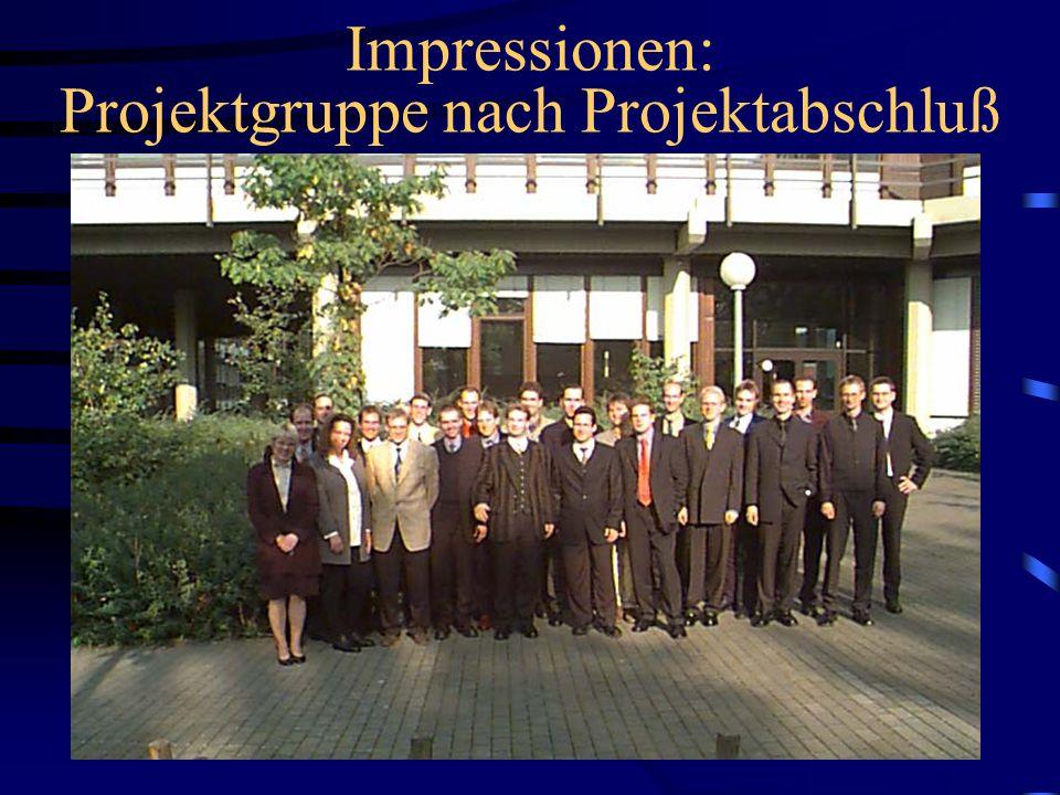 25 Impressionen: Projektgruppe bei der Arbeit