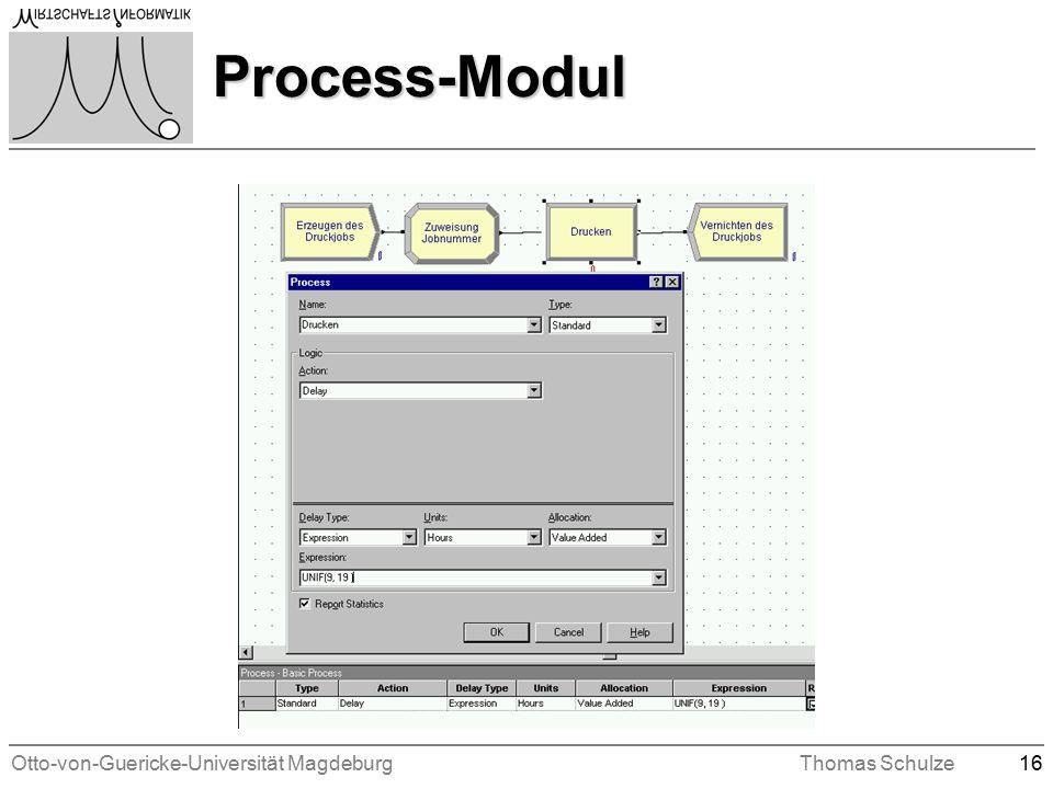 Otto-von-Guericke-Universität MagdeburgThomas Schulze16 Process-Modul