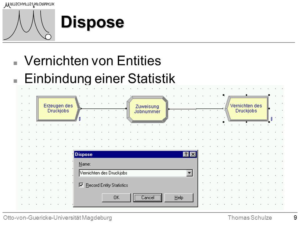 Otto-von-Guericke-Universität MagdeburgThomas Schulze9 Dispose n Vernichten von Entities n Einbindung einer Statistik