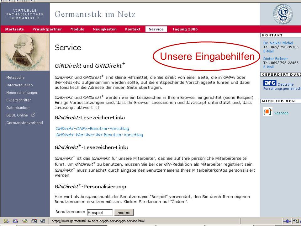17.10.2006Tagung Geselliges Arbeiten 19 Häufig gestellte Fragen Wie komme ich an neue Websites.