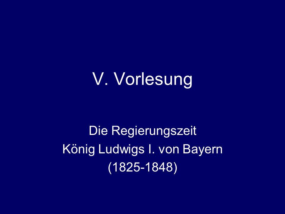 VI. Vorlesung König Ludwig I. als Bauherr und Kunstsammler