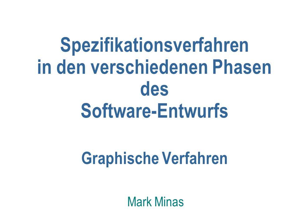 Spezifikationsverfahren in den verschiedenen Phasen des Software-Entwurfs Graphische Verfahren Mark Minas