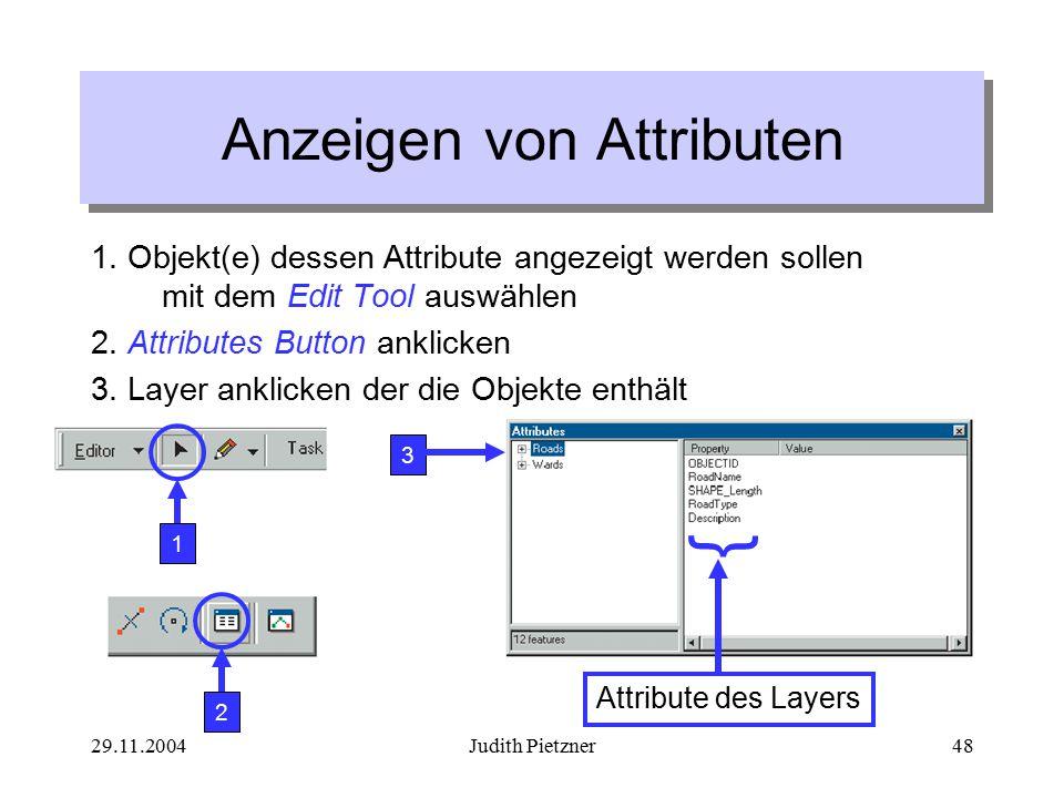 29.11.2004Judith Pietzner48 Anzeigen von Attributen 1.