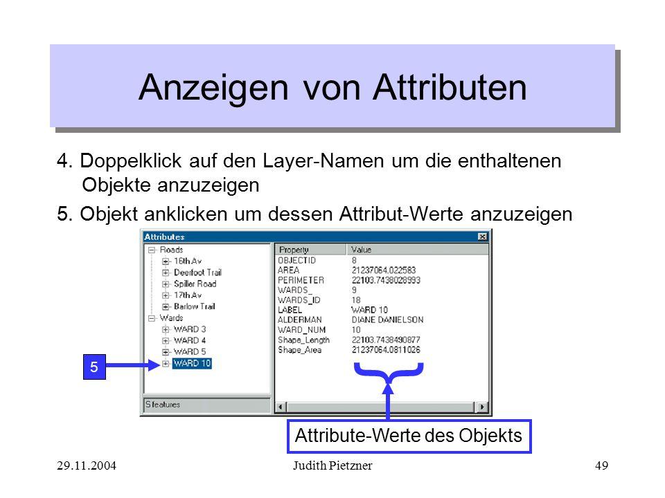 29.11.2004Judith Pietzner49 4.