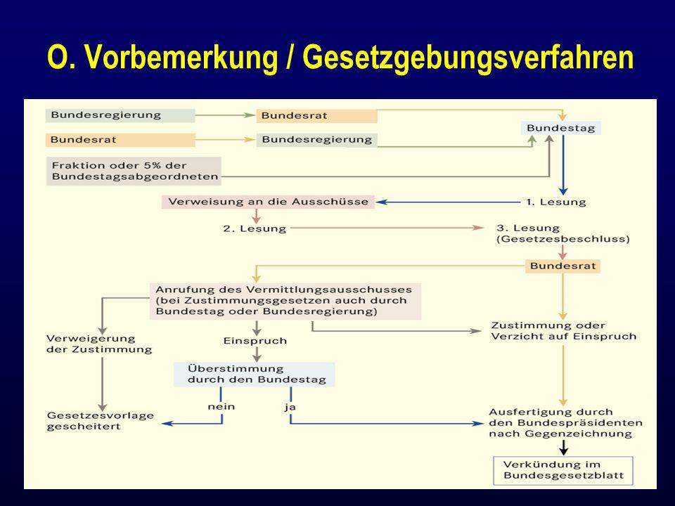 O. Vorbemerkung / Gesetzgebungsverfahren