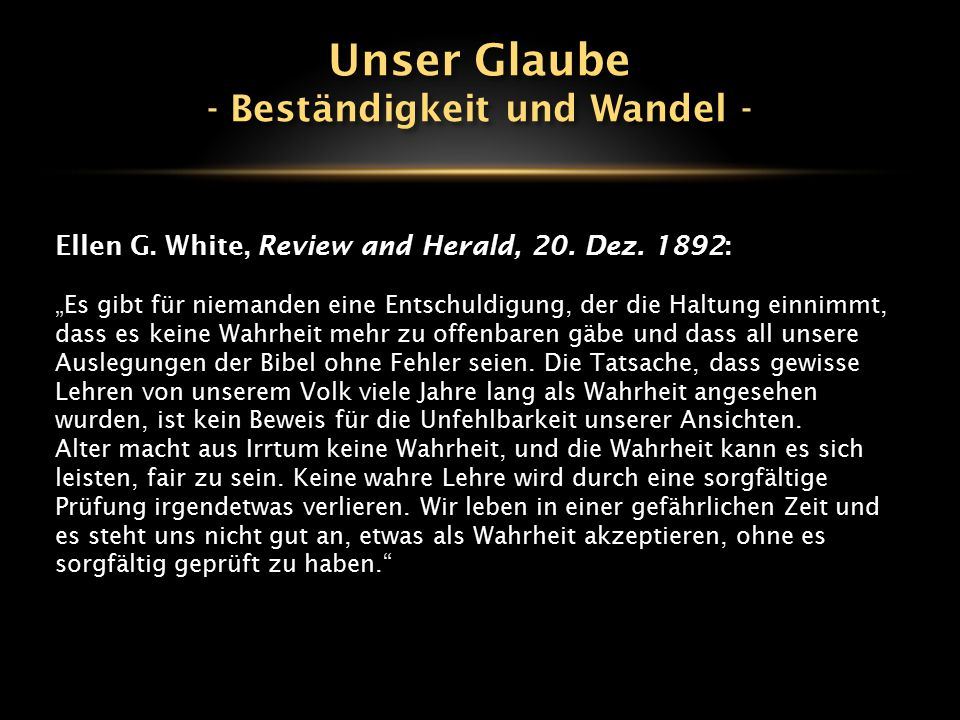 Ellen G.White, Review and Herald, 20. Dez.