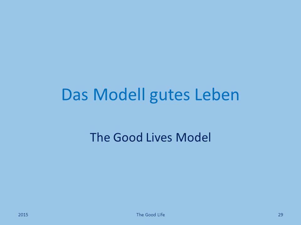 Das Modell gutes Leben The Good Lives Model 2015The Good Life29