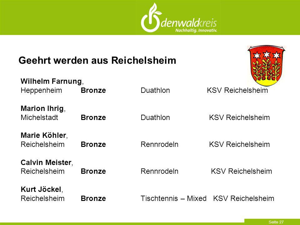 Seite 27 Wilhelm Farnung, HeppenheimBronzeDuathlon KSV Reichelsheim Marion Ihrig, MichelstadtBronzeDuathlon KSV Reichelsheim Marie Köhler, Reichelshei