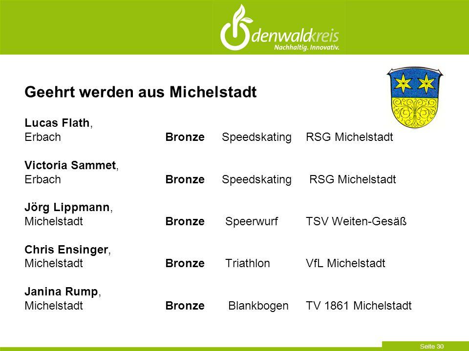 Seite 30 Lucas Flath, ErbachBronze Speedskating RSG Michelstadt Victoria Sammet, ErbachBronze Speedskating RSG Michelstadt Jörg Lippmann, MichelstadtB