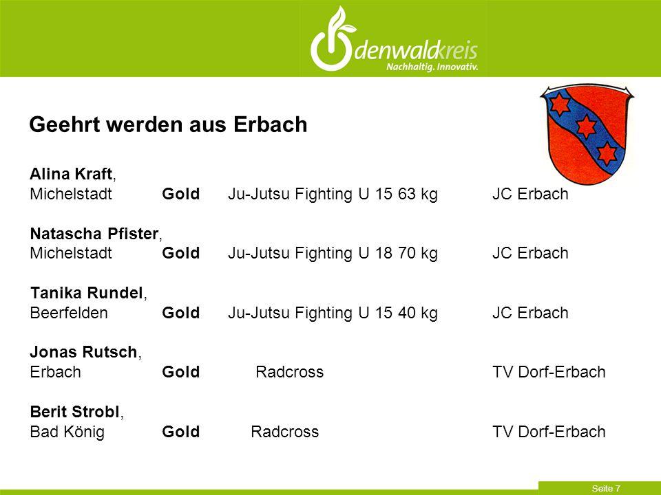 Seite 8 Geehrt werden aus Erbach Hannelore Kraut, Erbach Gold 40.