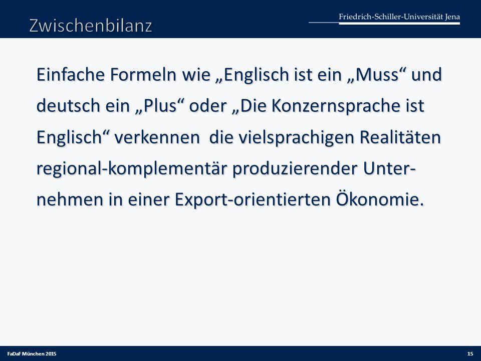 """Einfache Formeln wie """"Englisch ist ein """"Muss"""" und deutsch ein """"Plus"""" oder """"Die Konzernsprache ist Englisch"""" verkennen die vielsprachigen Realitäten re"""