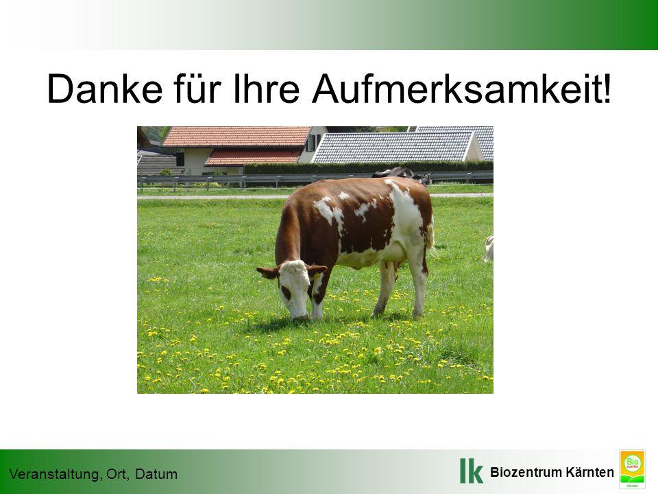 Biozentrum Kärnten Veranstaltung, Ort, Datum Danke für Ihre Aufmerksamkeit!