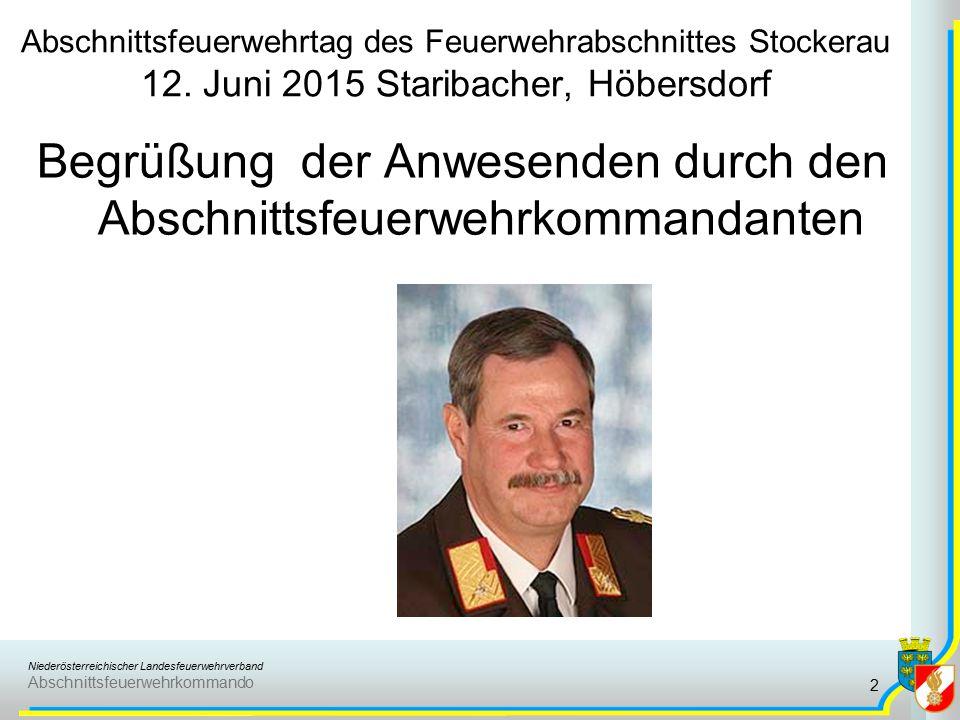 Niederösterreichischer Landesfeuerwehrverband Abschnittsfeuerwehrkommando Gedenkminute 3