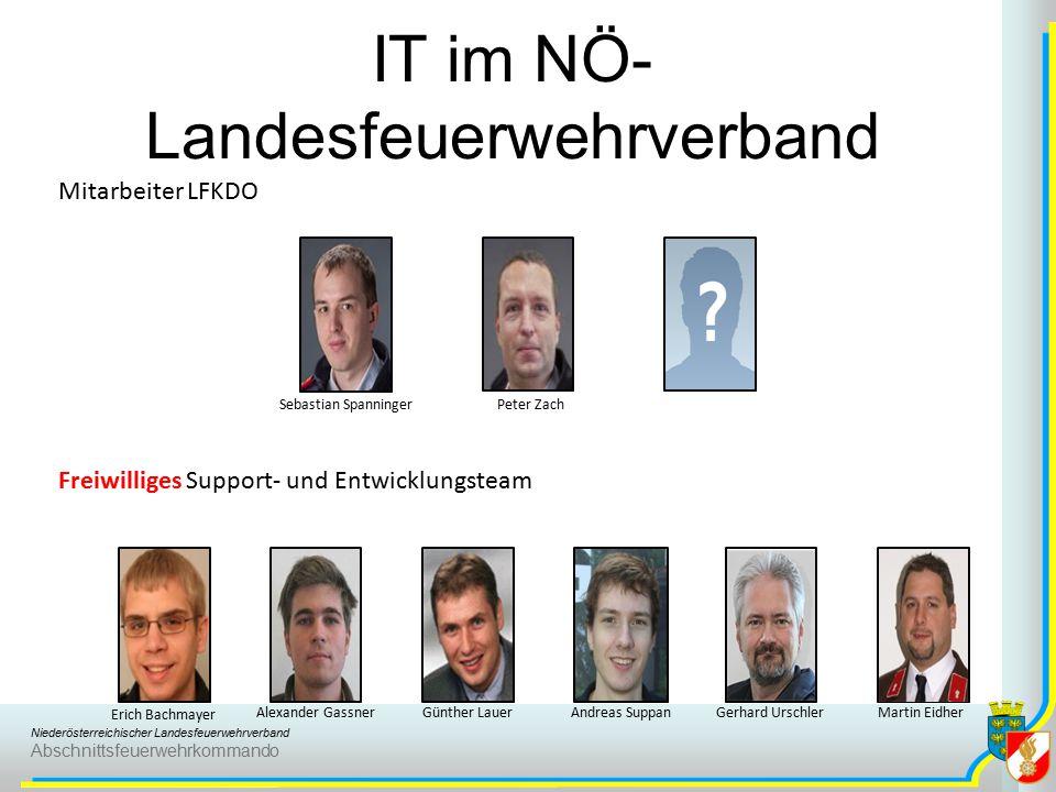 Niederösterreichischer Landesfeuerwehrverband Abschnittsfeuerwehrkommando IT im NÖ- Landesfeuerwehrverband Mitarbeiter LFKDO Freiwilliges Support- und