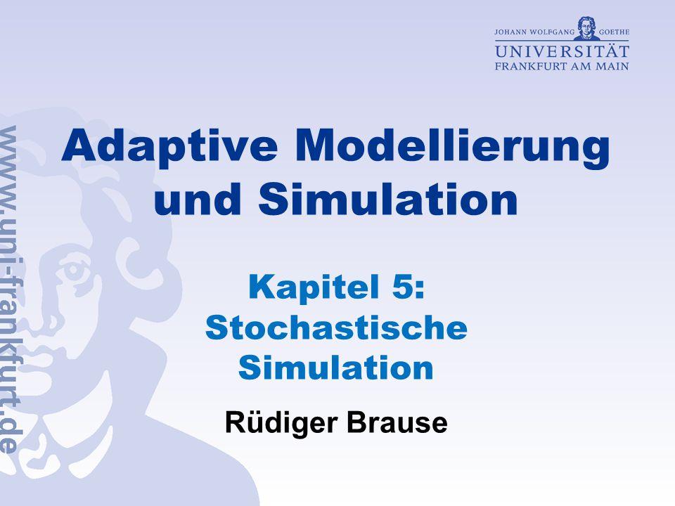 Simulationsauswertung System A System B e 1 e 2 e 3 e 1 e 2 e 3 e 2 ' x 2 x 1 x 1 x 2 x 3 Problem Antithetische Zufallsvariable nur möglich bei gleichen Systemen Ungleiche Anzahl von Variablen  keine korrespondierende Zufallszahlen R.Brause, Kap.5: Simulation - 81 -