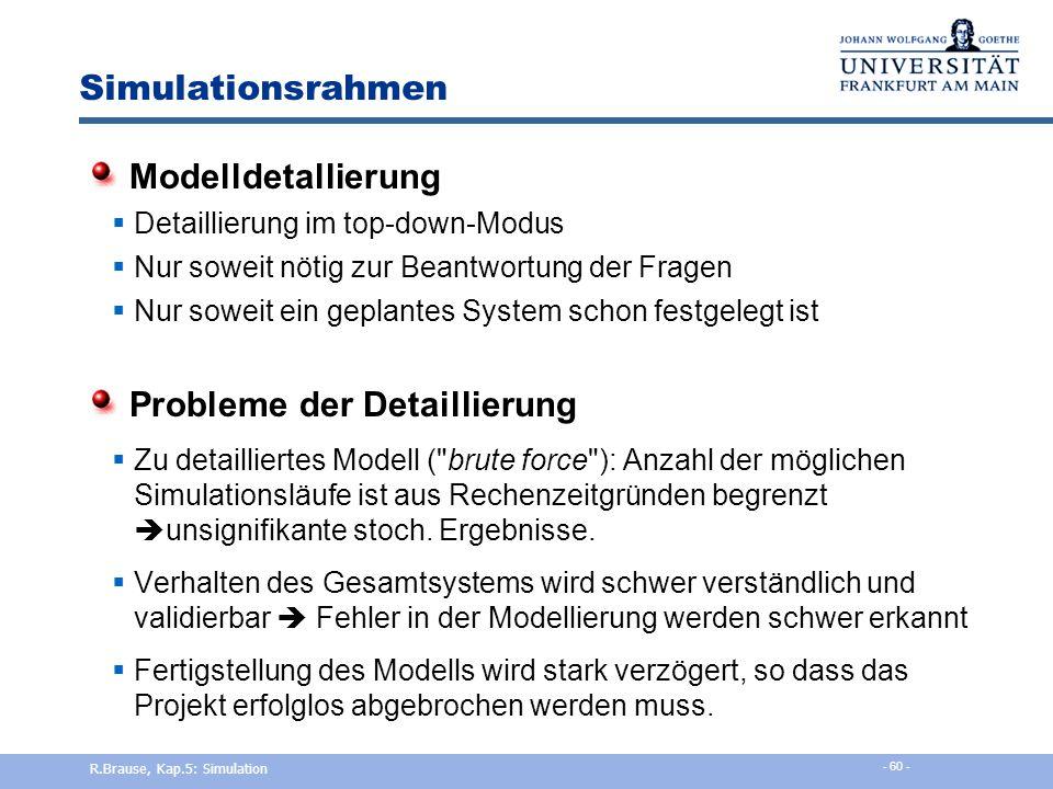 Simulationsrahmen Modellspezifikation  Anfang: Glossar mit Grundbegriffen und Beschreibung der Bedeutung und Wechselwirkung  Zweiter Schritt: formal