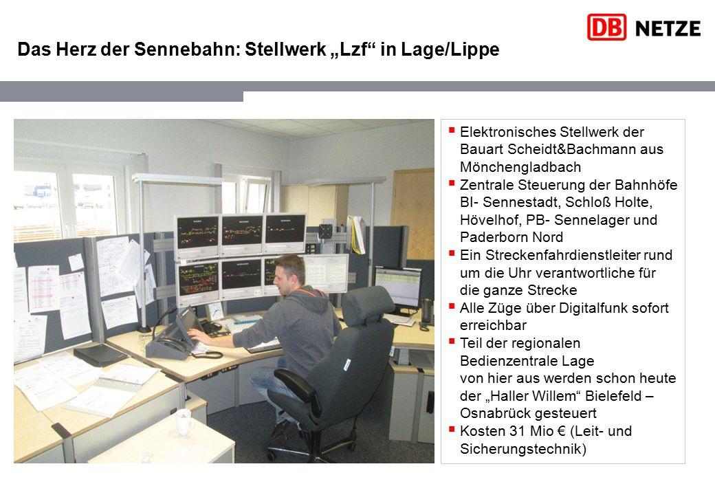 """Das Herz der Sennebahn: Stellwerk """"Lzf"""" in Lage/Lippe  Elektronisches Stellwerk der Bauart Scheidt&Bachmann aus Mönchengladbach  Zentrale Steuerung"""