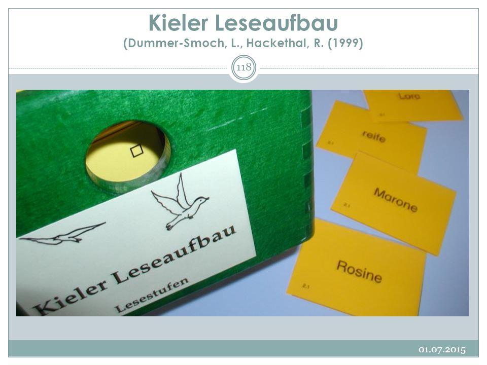 Kieler Leseaufbau (Dummer-Smoch, L., Hackethal, R. (1999) 01.07.2015 118