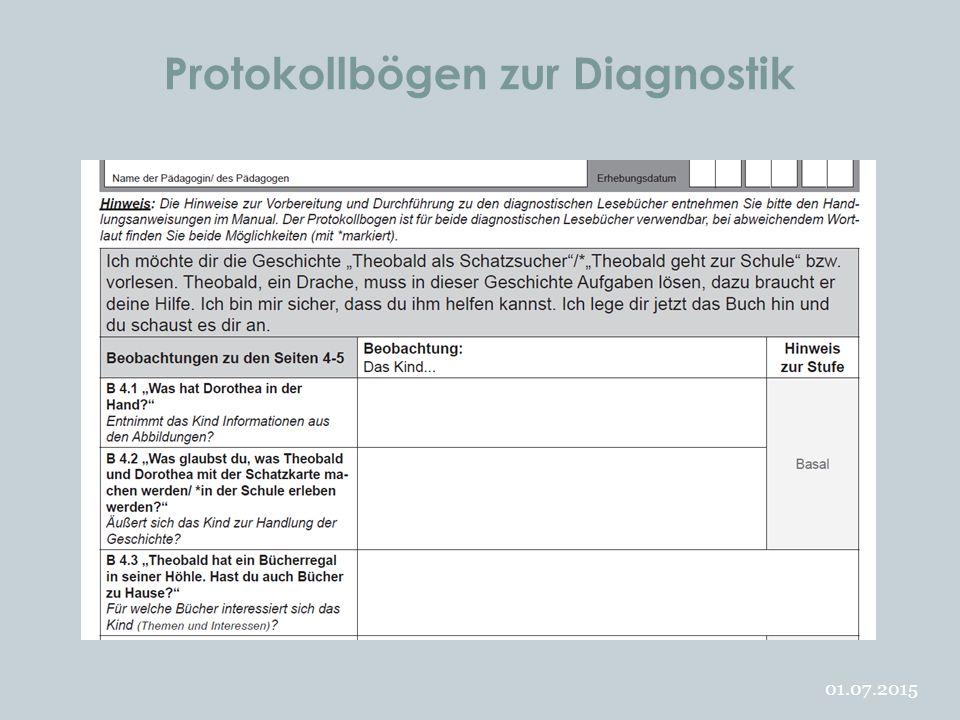 Protokollbögen zur Diagnostik 01.07.2015