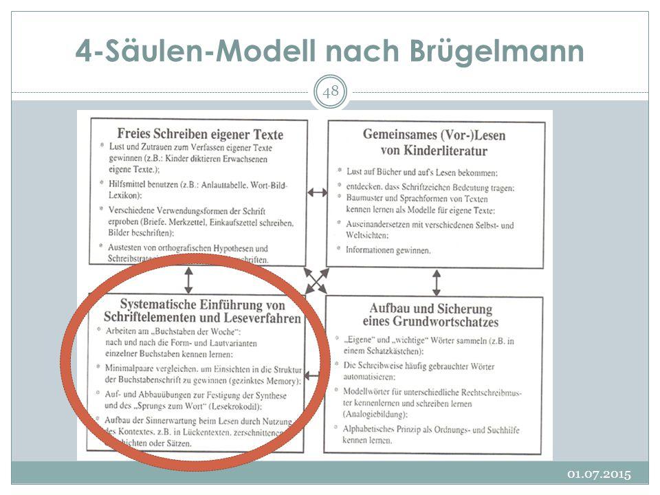 4-Säulen-Modell nach Brügelmann 01.07.2015 48