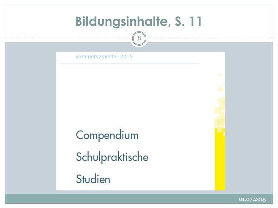 Bildungsinhalte, S. 11 01.07.2015 8