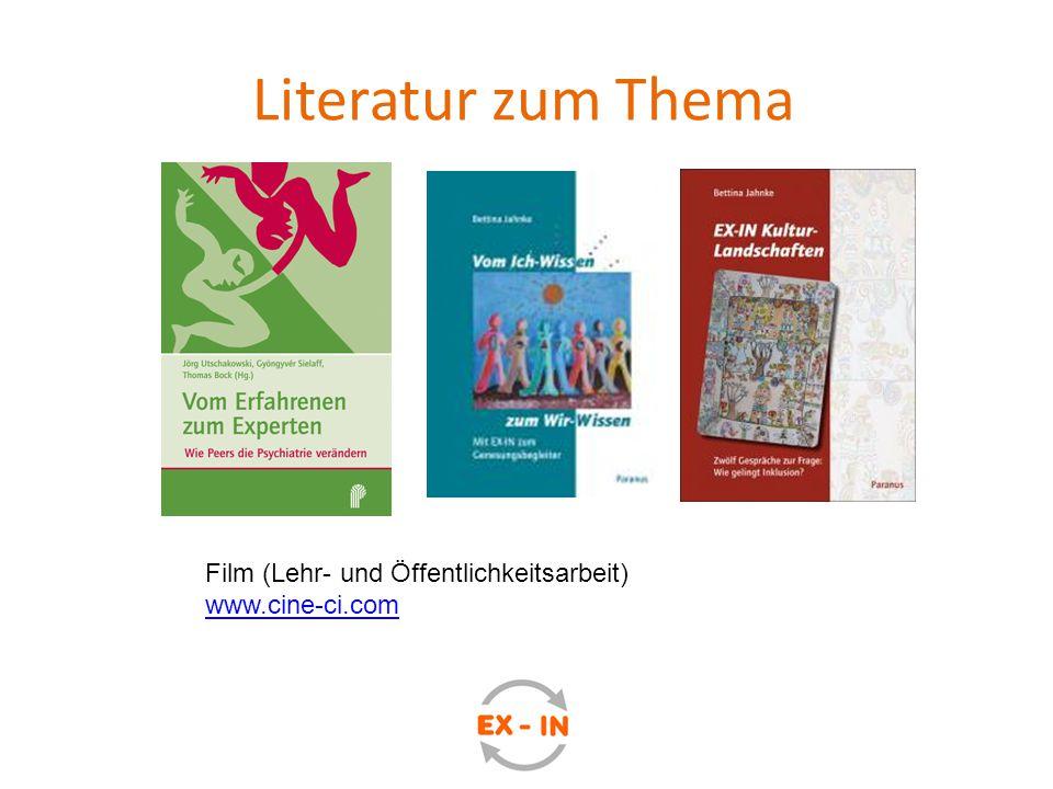 Literatur zum Thema Film (Lehr- und Öffentlichkeitsarbeit) www.cine-ci.com www.cine-ci.com
