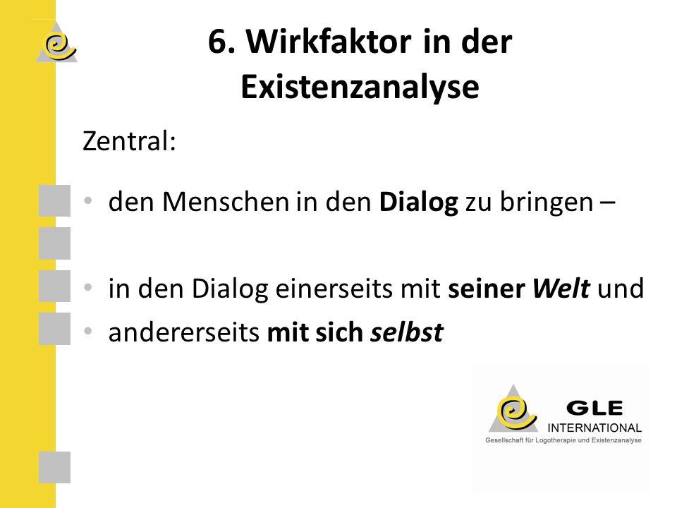 Zentral: den Menschen in den Dialog zu bringen – in den Dialog einerseits mit seiner Welt und andererseits mit sich selbst 6.