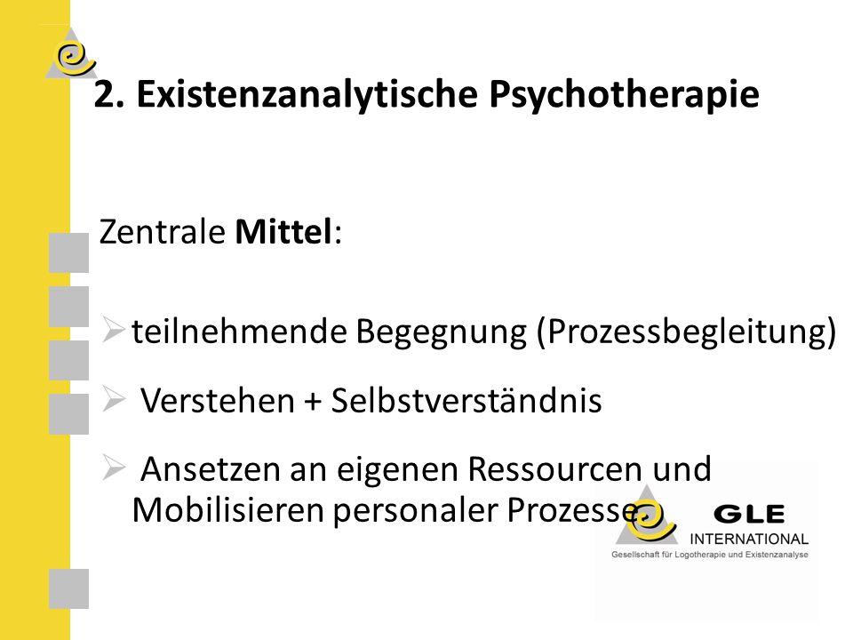 Zentrale Mittel:  teilnehmende Begegnung (Prozessbegleitung)  Verstehen + Selbstverständnis  Ansetzen an eigenen Ressourcen und Mobilisieren personaler Prozesse 2.