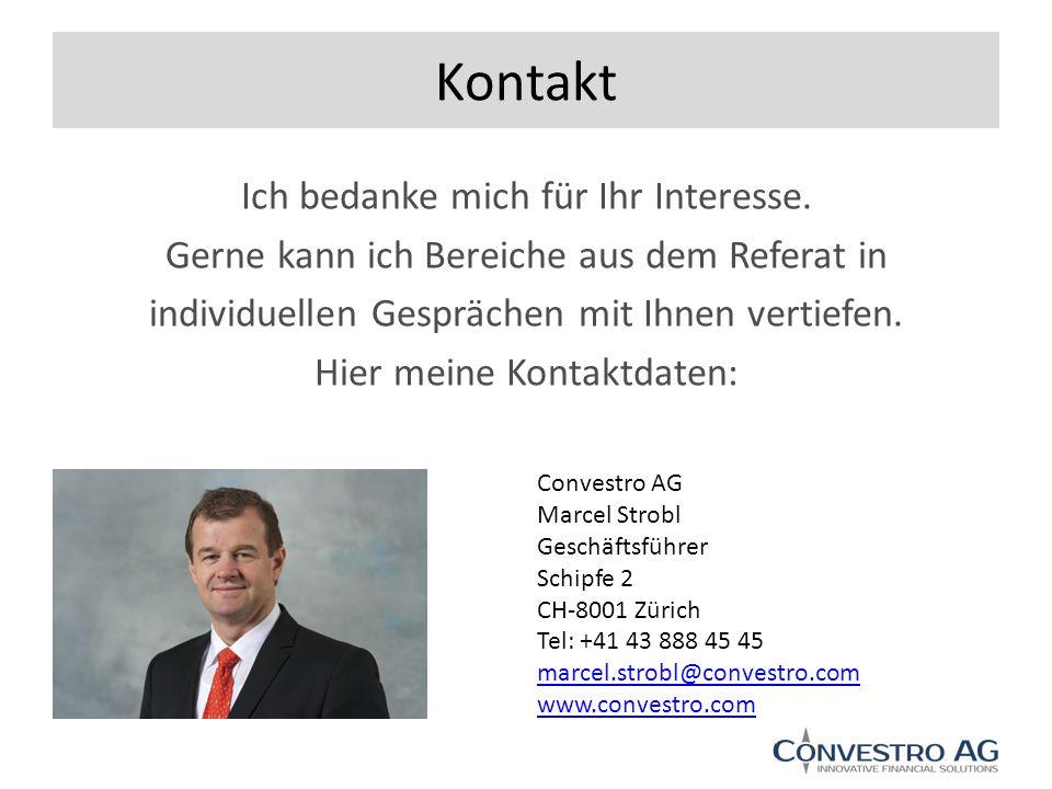 Kontakt Ich bedanke mich für Ihr Interesse.