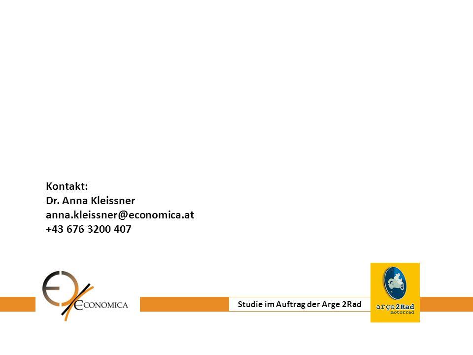 Institut für Wirtschaftsforschung Kontakt: Dr. Anna Kleissner anna.kleissner@economica.at +43 676 3200 407 Studie im Auftrag der Arge 2Rad