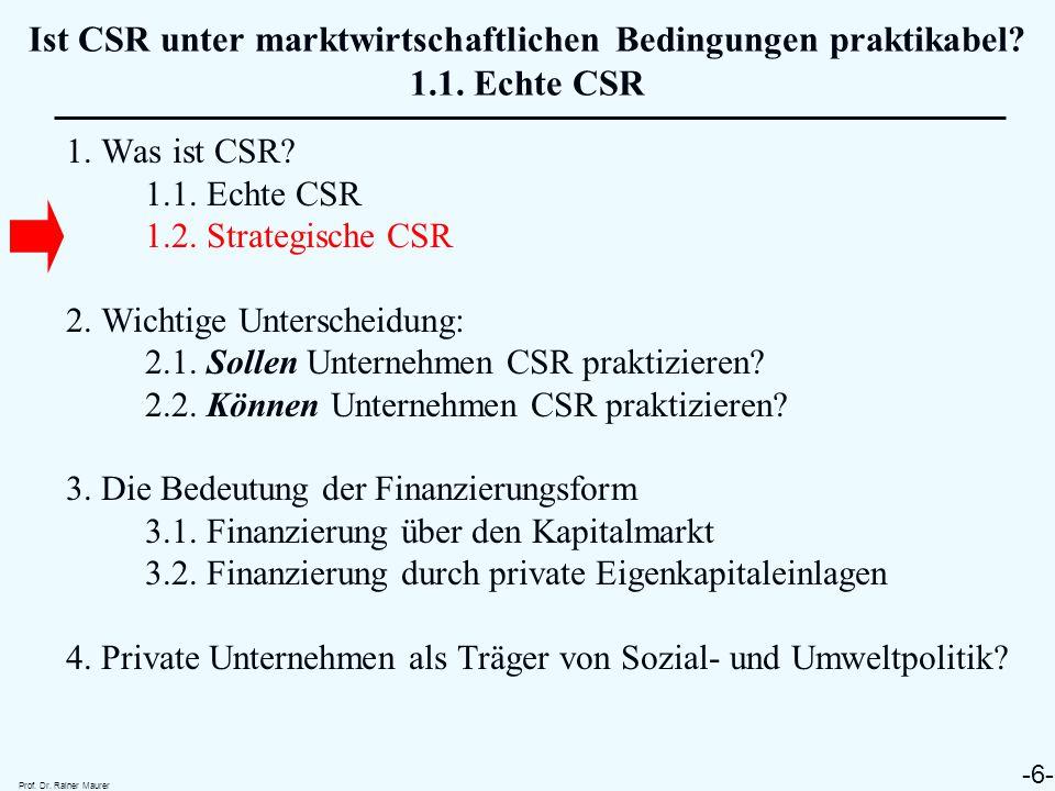 ➤ Was ist strategische CSR .