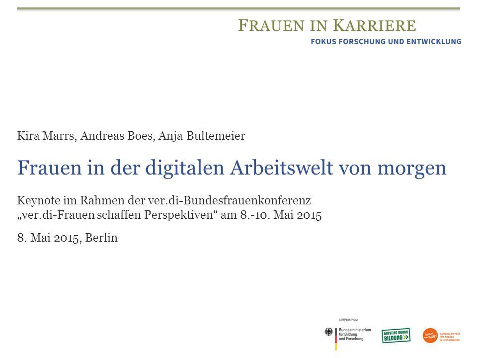 """Frauen in der digitalen Arbeitswelt von morgen Keynote im Rahmen der ver.di-Bundesfrauenkonferenz """"ver.di-Frauen schaffen Perspektiven"""" am 8.-10. Mai"""