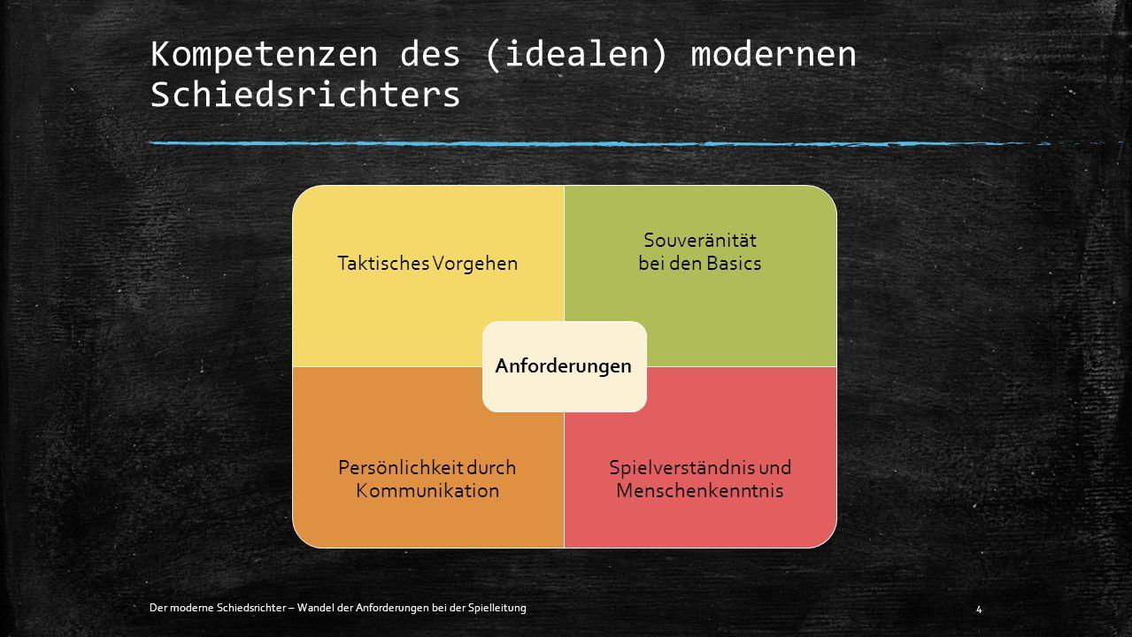 Kompetenzen des (idealen) modernen Schiedsrichters Der moderne Schiedsrichter – Wandel der Anforderungen bei der Spielleitung4 Taktisches Vorgehen Sou
