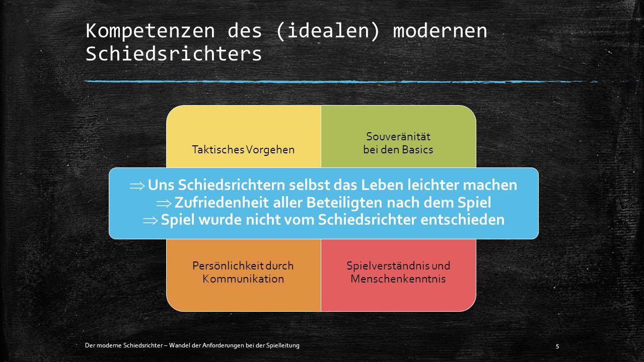 Kompetenzen des (idealen) modernen Schiedsrichters Der moderne Schiedsrichter – Wandel der Anforderungen bei der Spielleitung5 Taktisches Vorgehen Sou