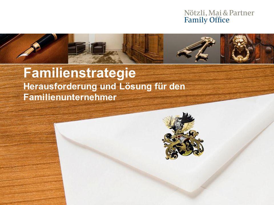 1 Familienstrategie Herausforderung und Lösung für den Familienunternehmer