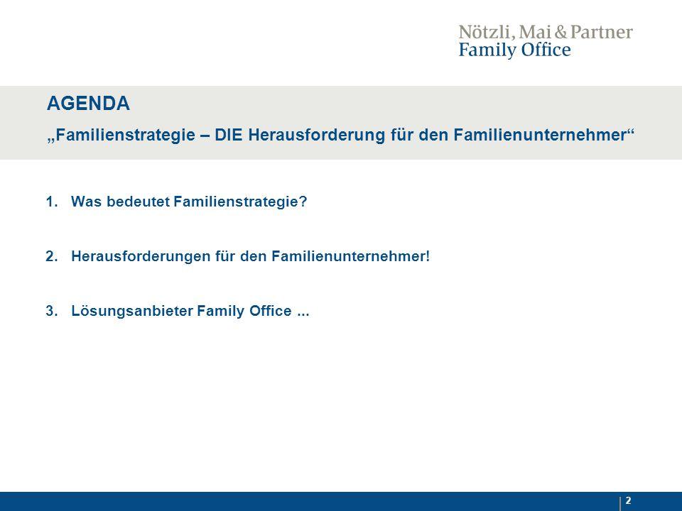 2 1.Was bedeutet Familienstrategie. 2. Herausforderungen für den Familienunternehmer.