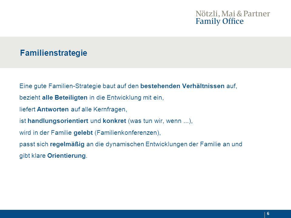 7 Familienstrategie Die kritischen Themen kommen auf den Tisch:  Wofür stehen wir.