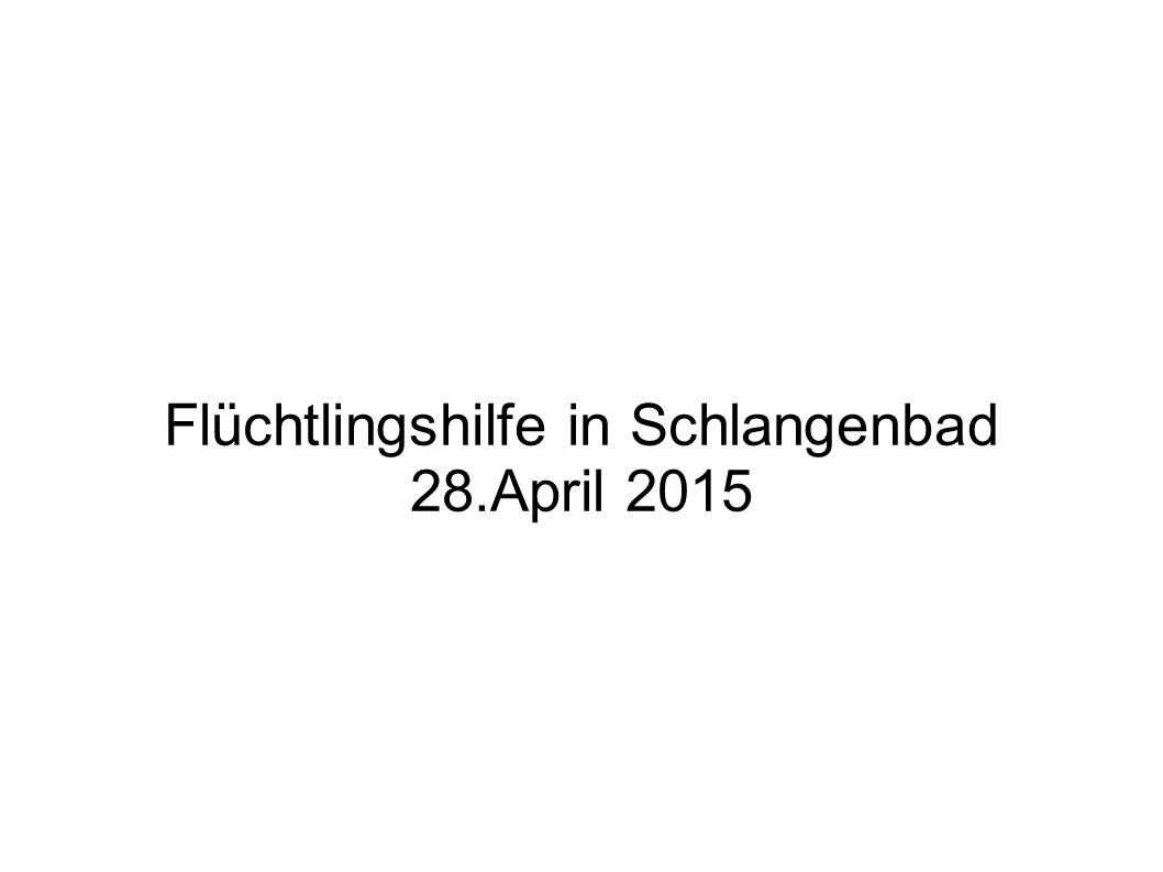 Flüchtlingshilfe in Schlangenbad 28.April 2015