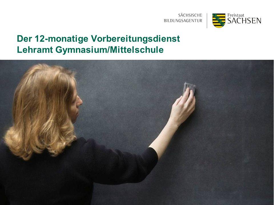 01.06 2015| Abteilung 4| SBAD13 Der 12-monatige Vorbereitungsdienst Lehramt Gymnasium/Mittelschule