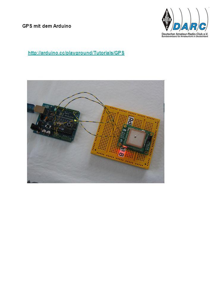 http://arduino.cc/playground/Tutorials/GPS GPS mit dem Arduino