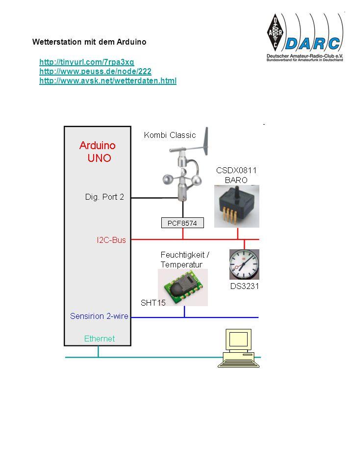 http://tinyurl.com/7rpa3xq http://www.peuss.de/node/222 http://www.avsk.net/wetterdaten.html Wetterstation mit dem Arduino
