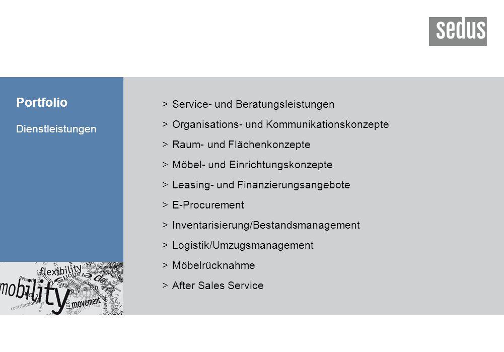 Portfolio Dienstleistungen >Service- und Beratungsleistungen >Organisations- und Kommunikationskonzepte >Raum- und Flächenkonzepte >Möbel- und Einrich