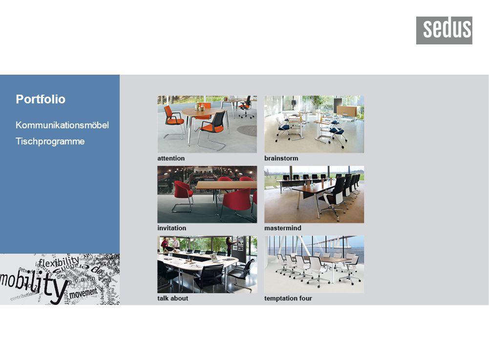 Portfolio Kommunikationsmöbel Tischprogramme