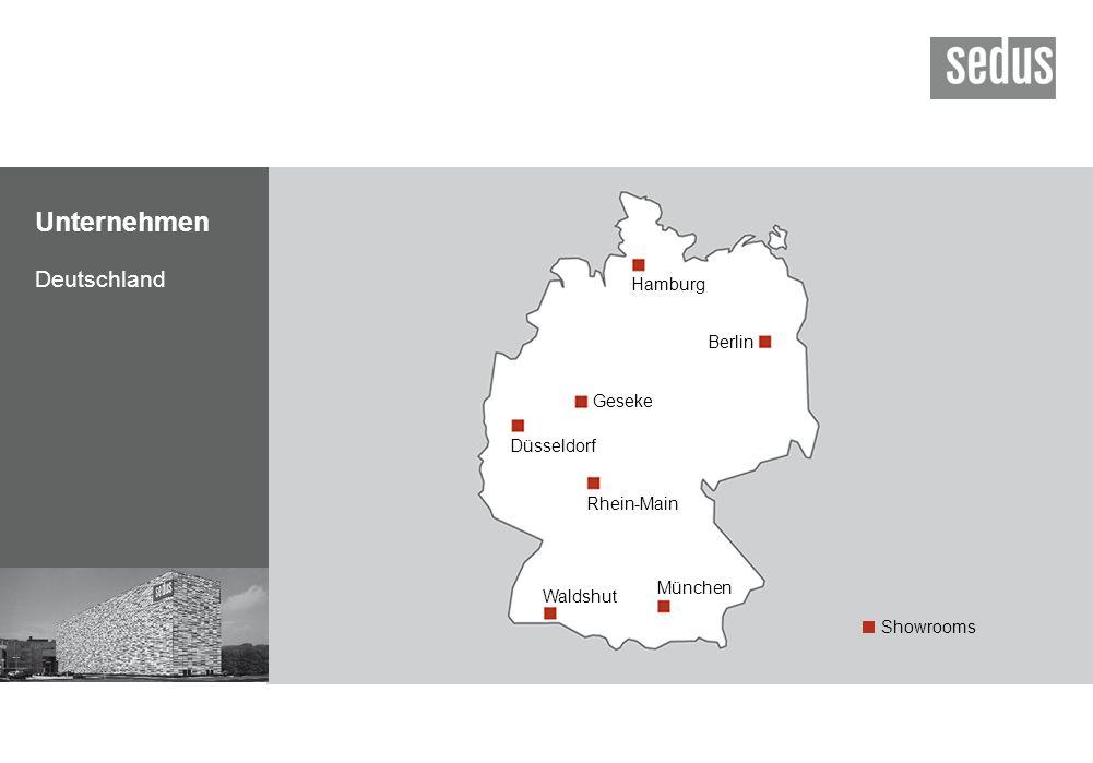 Unternehmen Deutschland Berlin Düsseldorf Rhein-Main Waldshut München Hamburg Geseke Showrooms