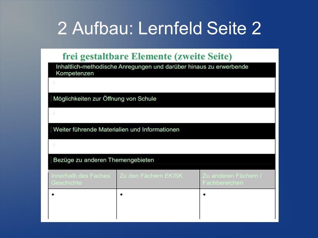 2 Aufbau: Lernfeld Seite 2