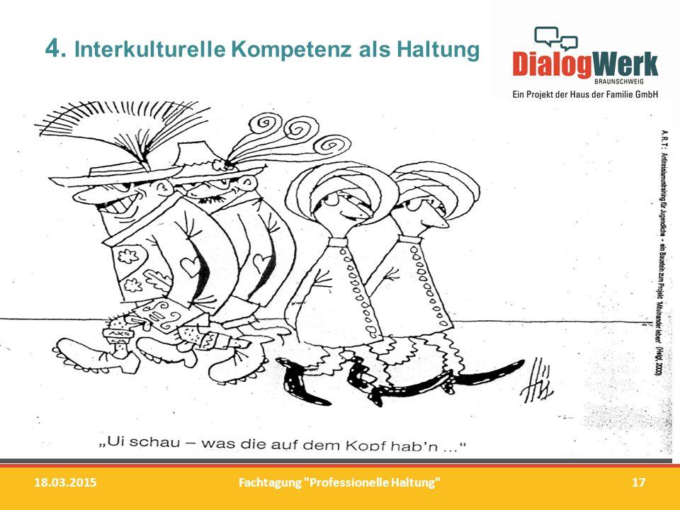 """4.Interkulturelle Kompetenz als Haltung """"Wir brauchen unsere Schubladen."""
