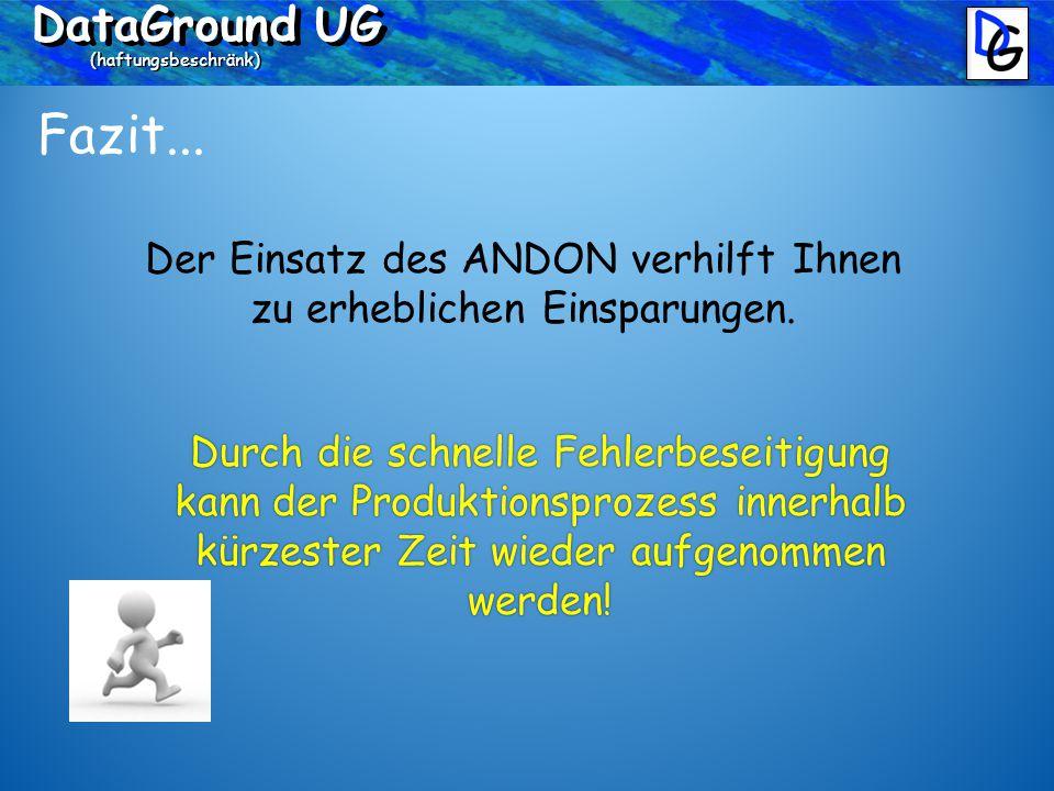 DataGround UG (haftungsbeschränk) Fazit...