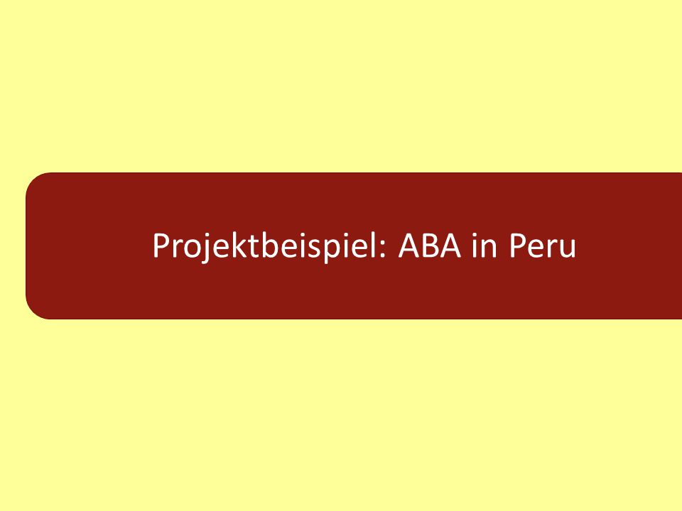 Projektbeispiel: ABA in Peru